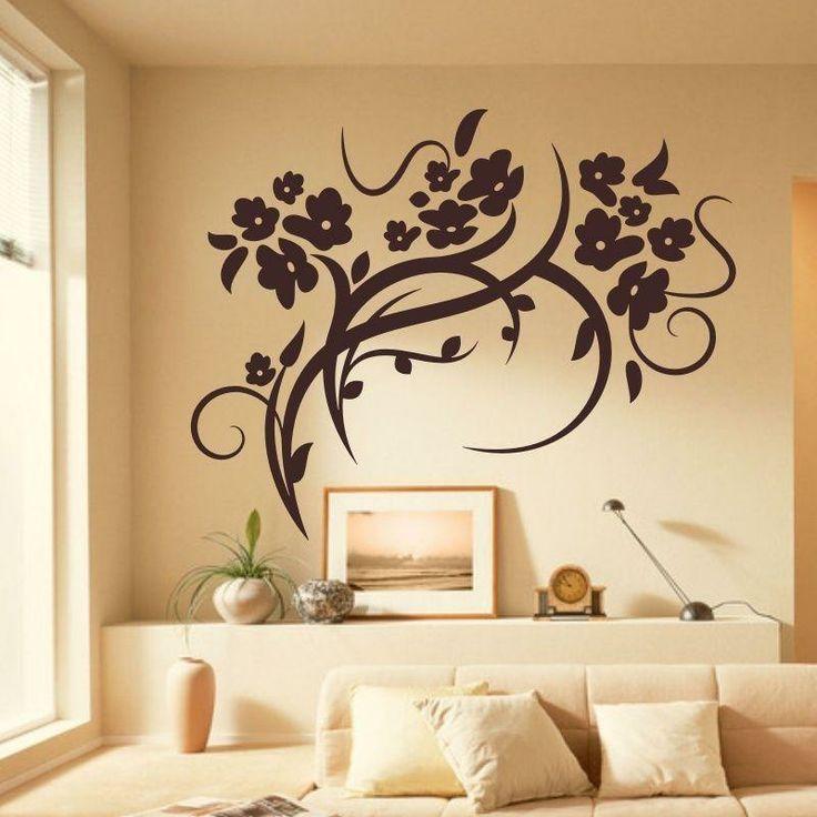 Naklejka welurowa - Ornament roślinny | Decorative sticker - Plant ornament | 34,10 PLN #decorative #sticker #flowers #plant_ornament #plant #ornament #home_interior #interior_decor #naklejka #naklejka_welurowa #naklejka_dekoracyjna #dekoracja_ściany #dekoracja_wnętrz #wystrój_wnętrz