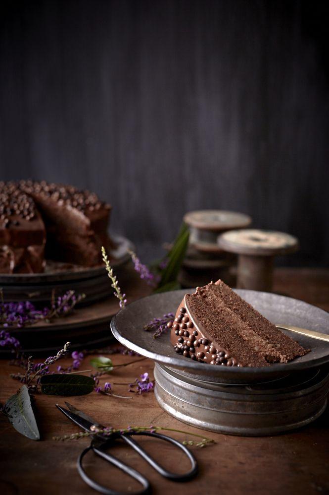 Chocolate Truffle Cake with Chestnut Cream and Ganache « Iron Chef Shellie