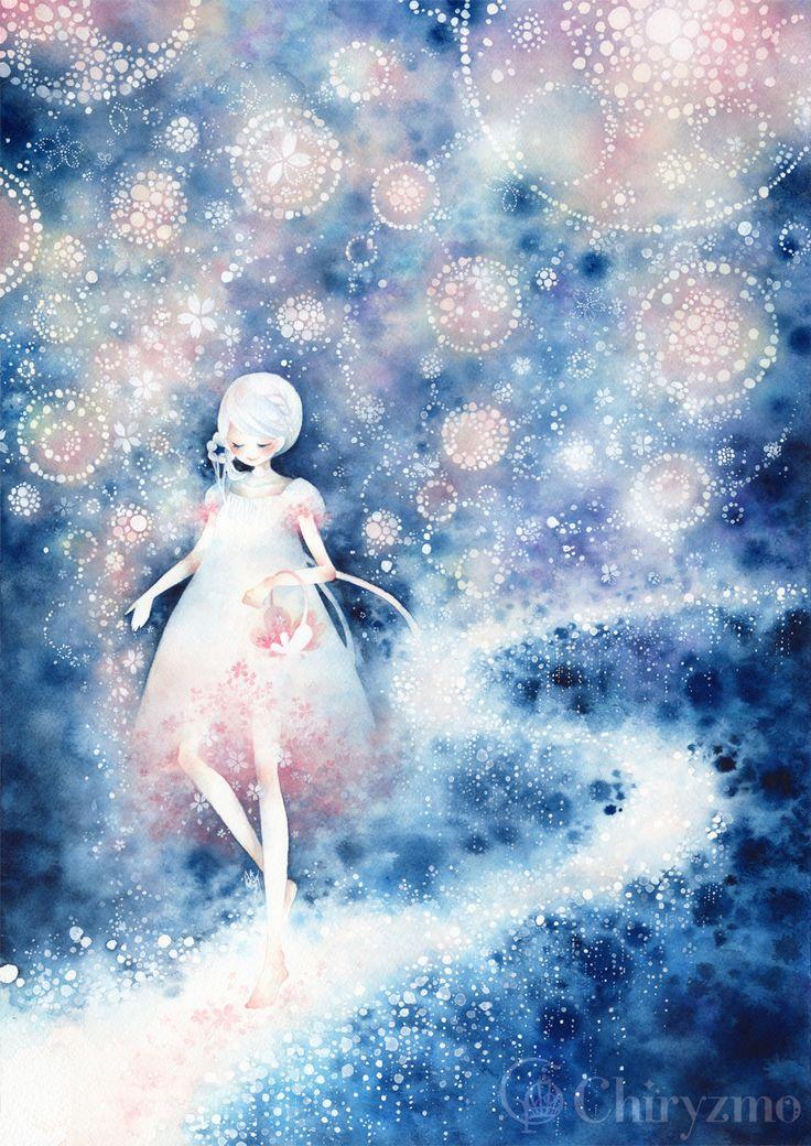 明日は桜の星が降る by ヒヅキカヲル   CREATORS BANK http://creatorsbank.com/hi2ki_A/works/277144