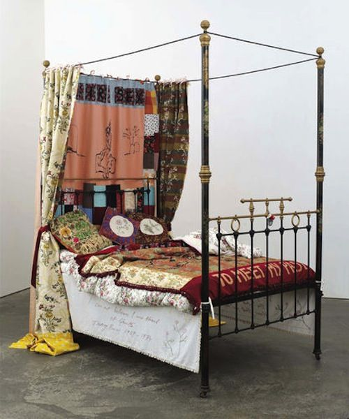 Tracey Emin bed fetched  $778.9K, record auction price for the Artist, Christie's auction of art from the Saatchi Collection. http://www.bloomberg.com/news/2013-10-17/tracey-emin-s-bed-sells-for-record-778-900-in-london.html
