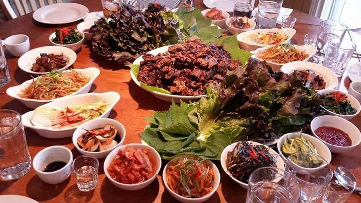 Korean BBQ Feast of Rib Eye Bugogi and Banchan