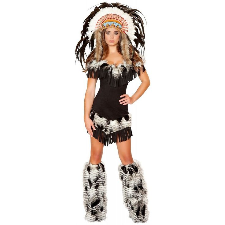 Indian Princess Costume Adult Womens Native American Girl Halloween Fancy Dress #RomaCostume