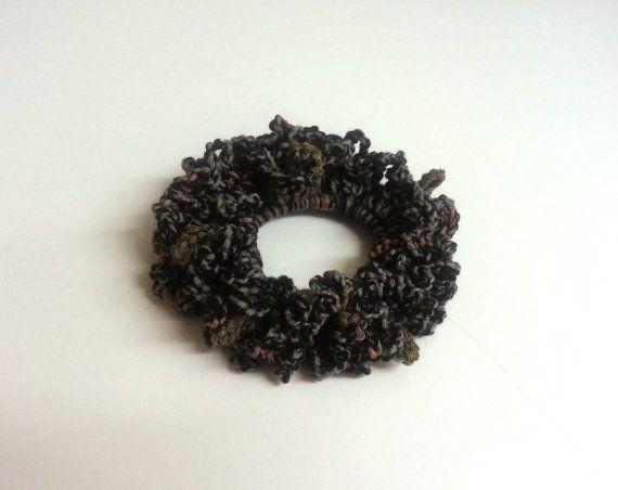 Crochet Hair Scrunchie Crochet Hair Accessories by jazzicrafts