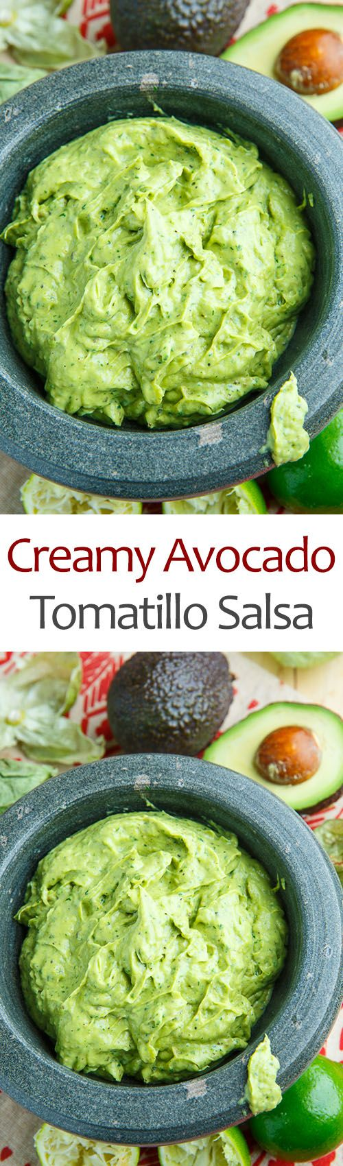 Creamy Avocado and Tomatillo Salsa