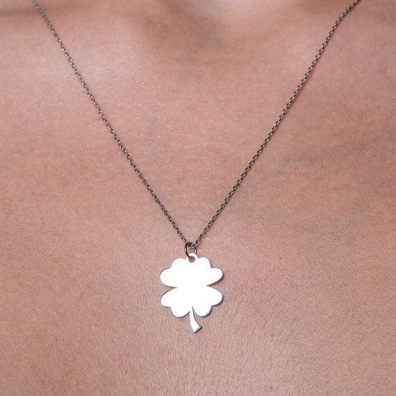 Four Leaf Clover Necklace Four Leaf Clover Charm Clover