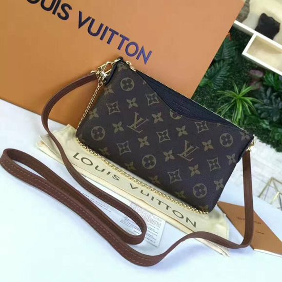 4c7a1fd120c Louis Vuitton M41639 Pallas Clutch Crossbody Bag Monogram Canvas ...