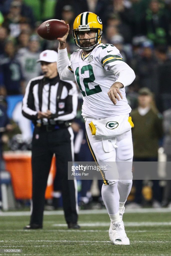 24811b74b Aaron Rodgers of the Green Bay Packers throws the ball in the first ...