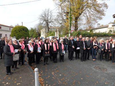 Expressions en Liberté le TAILLAN Section Chant Choral: Cérémonie du 11 novembre
