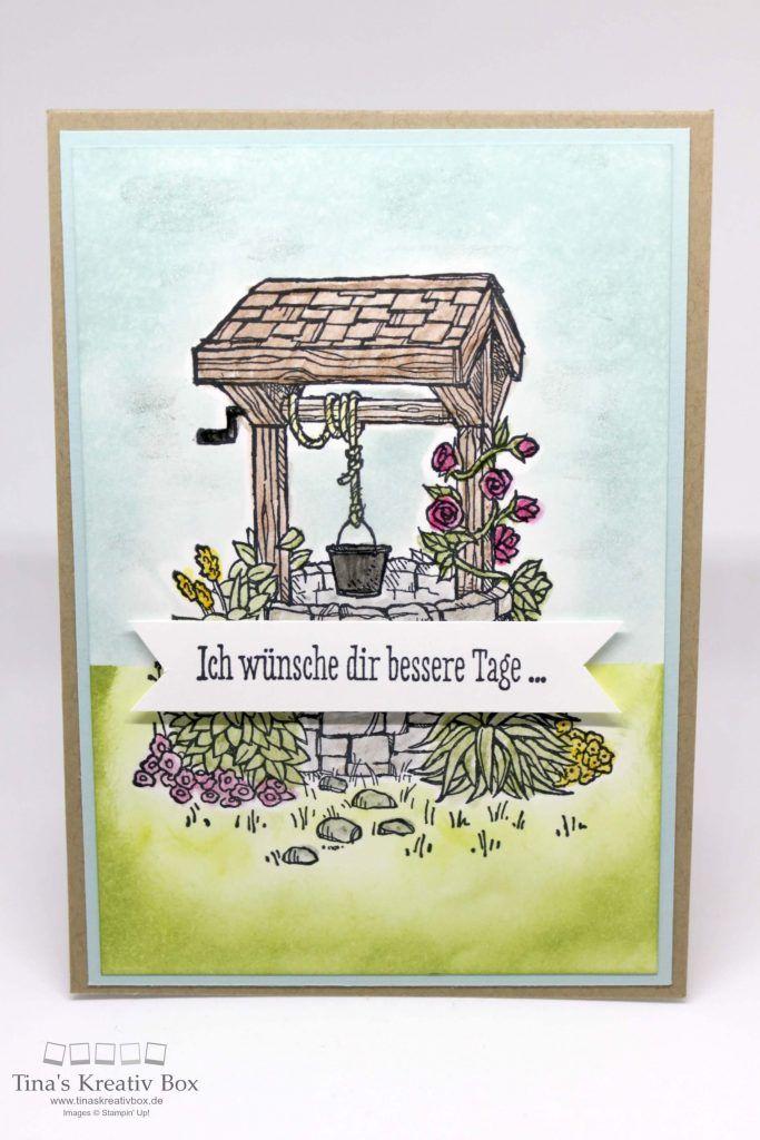 Wunschbrunnen Karte - mit Produkten von Stampin' Up!