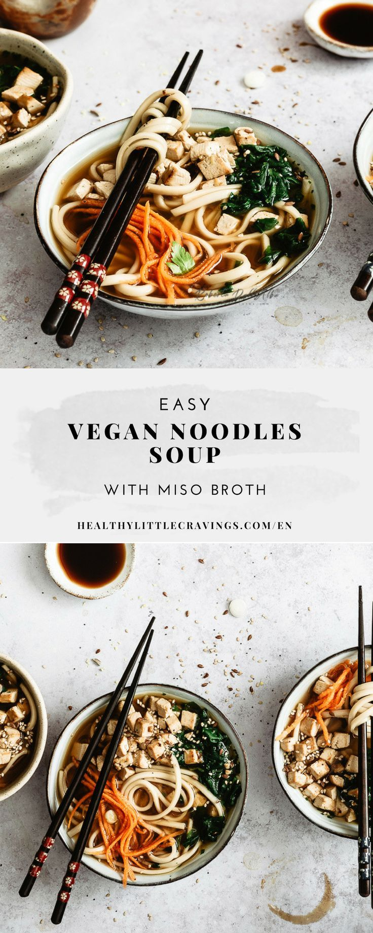 Vegan Miso Soup With Tofu And Udon Noodles Easy Recipe Udon Noodles Vegetarian Udon Soup Vegetarian Udon