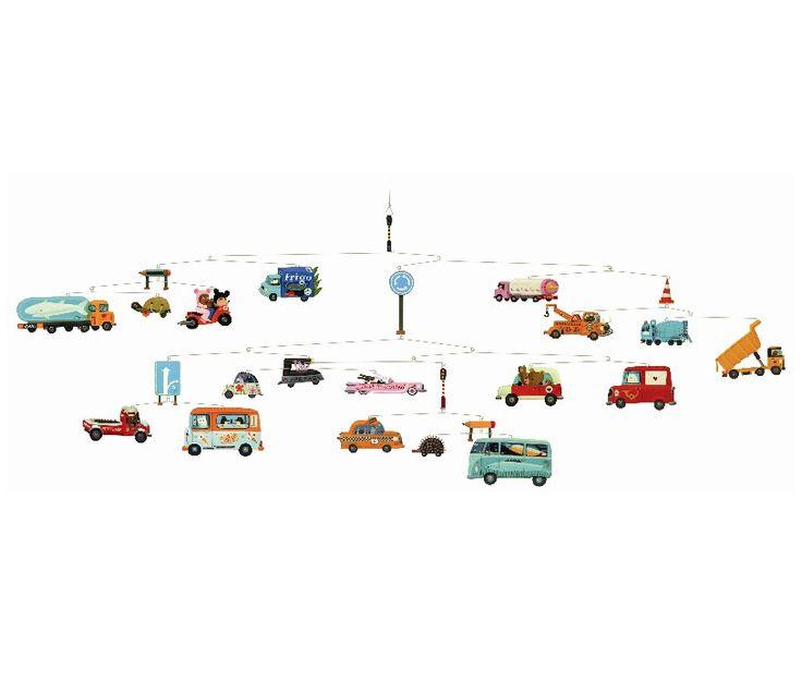 Djeco uro - Trafik - Tinga Tango Designbutik #djeco#legetøj#børneværelse