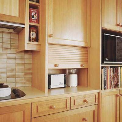 150 best diy kitchen storage images on pinterest for Appliance garage kitchen cabinets
