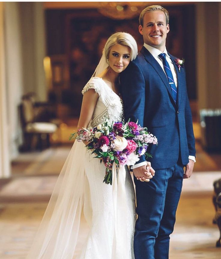 modest wedding dress with cap sleeves from alta moda. --(modest bridal gowns)---