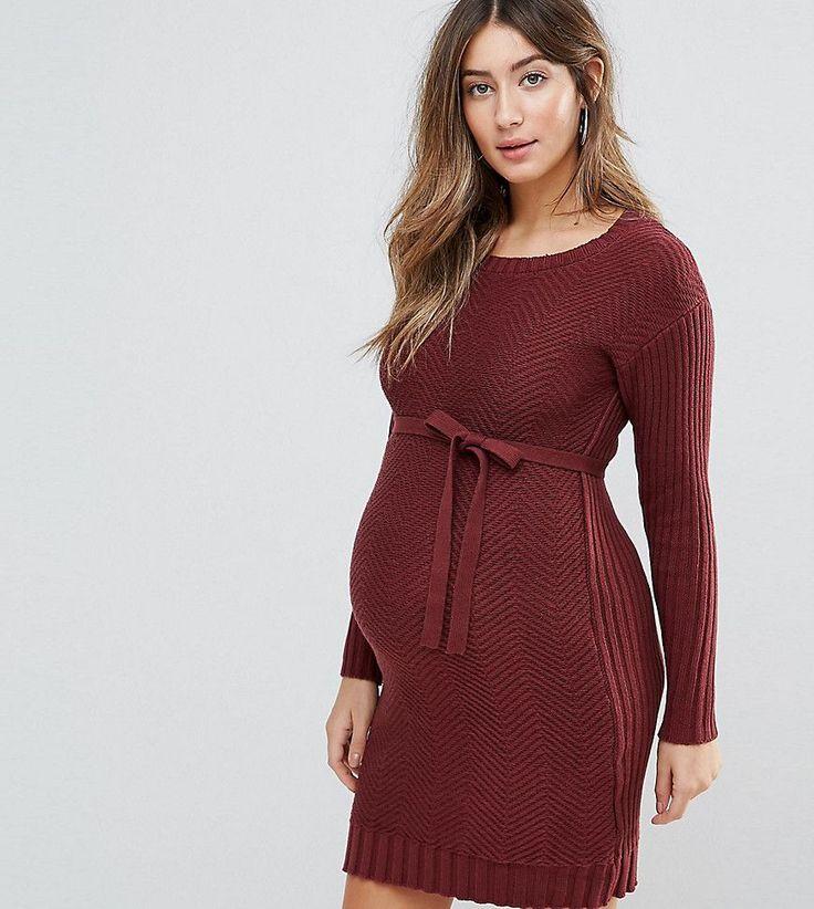 Mamalicious Knitted Dress - Purple