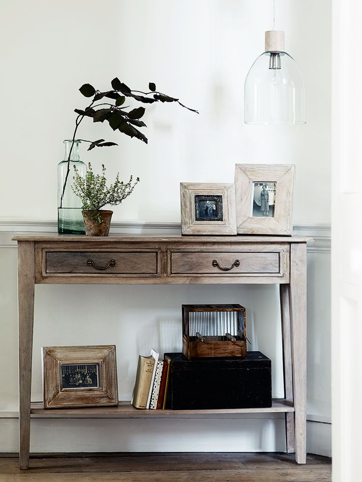 NEW Limewashed Console Table