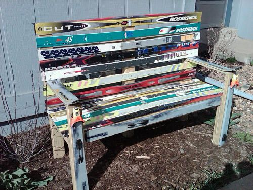Ski Bench - Will make someday with my old skis!