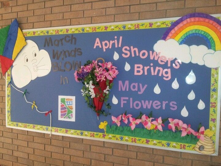 Image result for spring showers bulletin board ideas