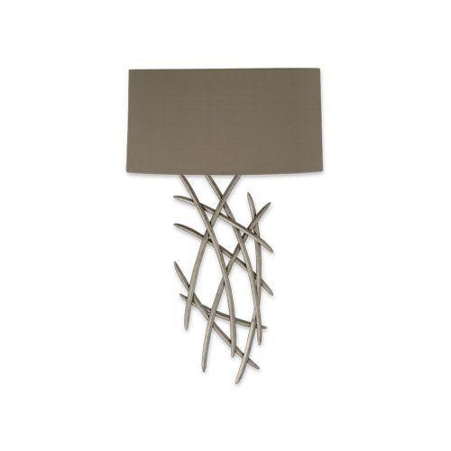 Porta Romana - TWL24S, Flynn Wall Light, Small - Burnished Silver