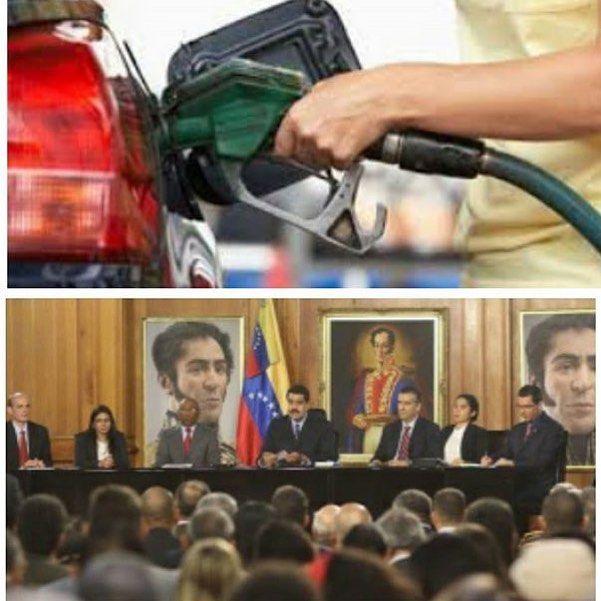 Así quedó el precio de la gasolina! 95 a 6BsF y 91 a 1Bsf por el litro by venezueladice