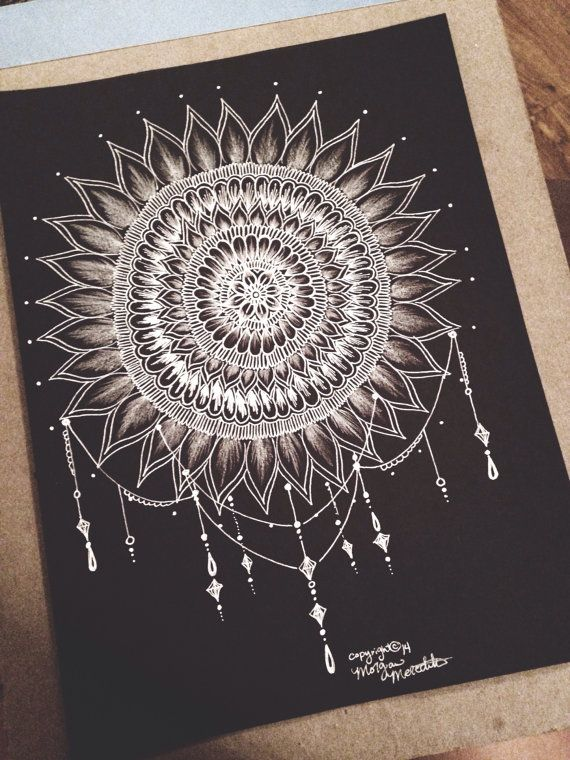 Blackout Mandala by MorgansCanvas on Etsy