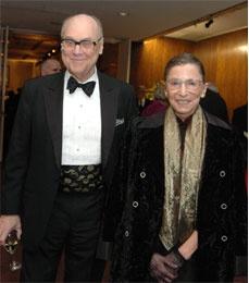 Professor Martin Ginsburg and  Justice Ruth Bader Ginsburg.