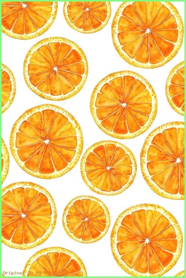 Wallpaper Backgrounds Aesthetic Hand Painted Bright Orange