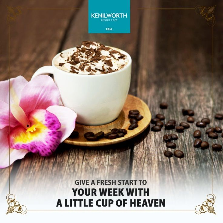 Coffee Love is in the air. Give yourself the much needed kick start for a hectic day ahead.  #KenilworthHotels #ThePalms #Happiness #Refreshment #Coffee #CoffeeBreaks #CoffeeCup #Restaurant #Resort #Goa