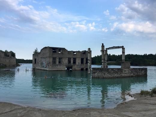 Rummu, Estonia: The ruins of an Estonian prison are drowning in the quarry lake where the convicts were once forced to work.