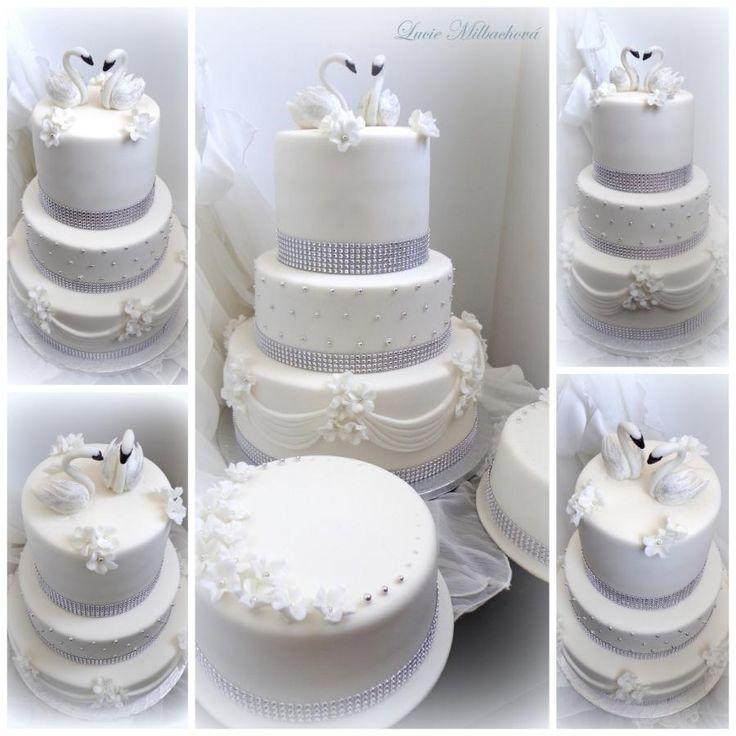 Wedding cake by Lucie - http://cakesdecor.com/cakes/284334-wedding-cake