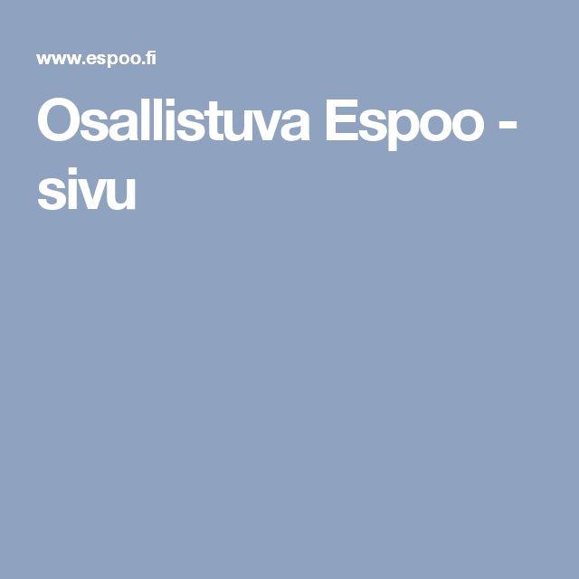 Osallistuva Espoo - sivu