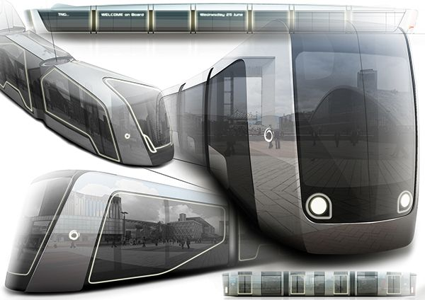 Concept tram ( Alstom work ) on Behance