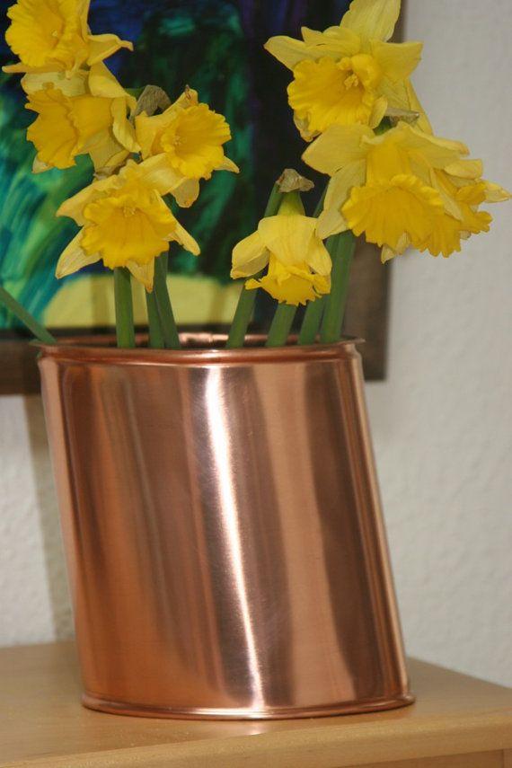 Copper vase by CoppercraftDesign on Etsy, €60.00