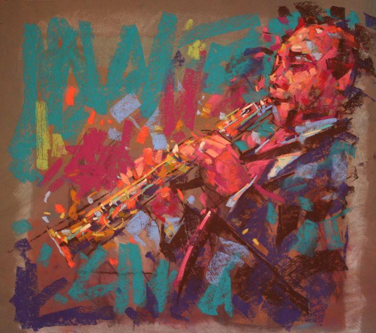 Jazz 1 in chalk pastel by Jamel Akib