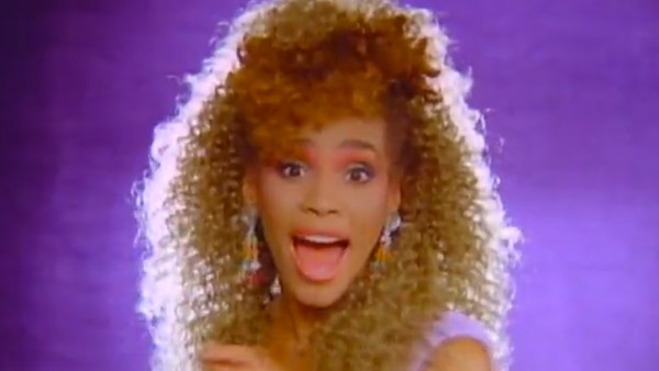 """I love 80's makeup almost as much as the music.  I'll never forget Whitney's iconic look from her """"I Wanna Dance Dance With Somebody"""" video.  Coral shadow and lipstick... love it."""