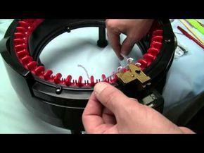 Knitting a Flat Panel on the addi Express Kingsize Knitting Machine - YouTube