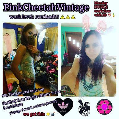 PinkCheetahVintage: Monday Work Hustle Wrestle Mania ootd DJ Shadow fe...