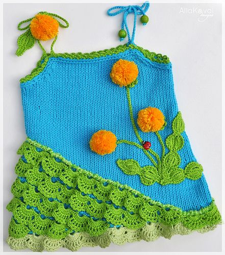 Ravelry: Dandelion Tunic Hand Knitted with crochet details pattern by Alla Koval