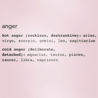 12 Zodiac Signs Types of Anger. Cancer ♋ Zodiac Sign - cold anger (deliberate, detached)