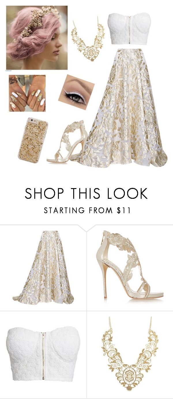 """#322"" by mildabas ❤ liked on Polyvore featuring Lela Rose, Oscar de la Renta, NLY Trend, Charlotte Russe and Case-Mate"
