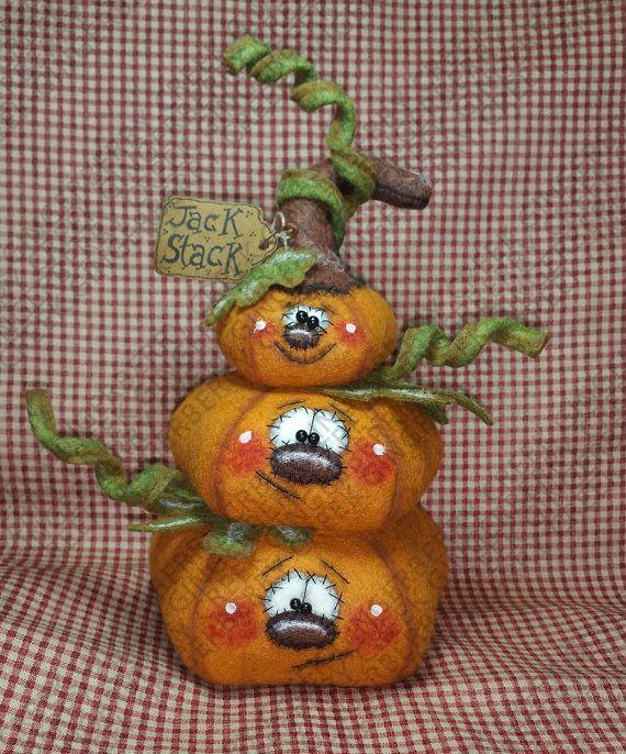 Un Jack Stack patrón de calabaza 237 por GingerberryCreek en Etsy