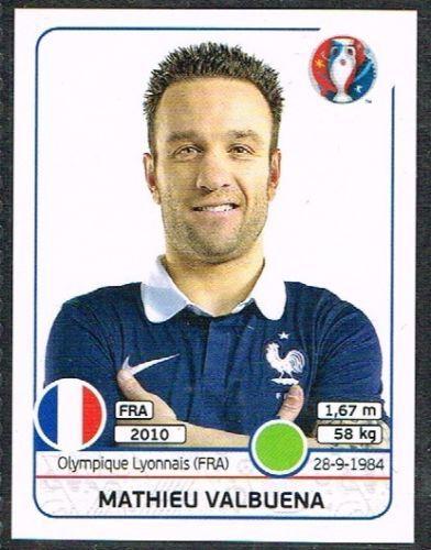 Mathieu Valbuena  France Nr 0034 #euro2016 #france #stickers #panini #streiker #Valbuena