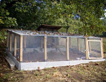 Hühnerstall mit Voliere Vogelhaus,Gehege,Kleintierstall Stall Hühnerstall,Hühner