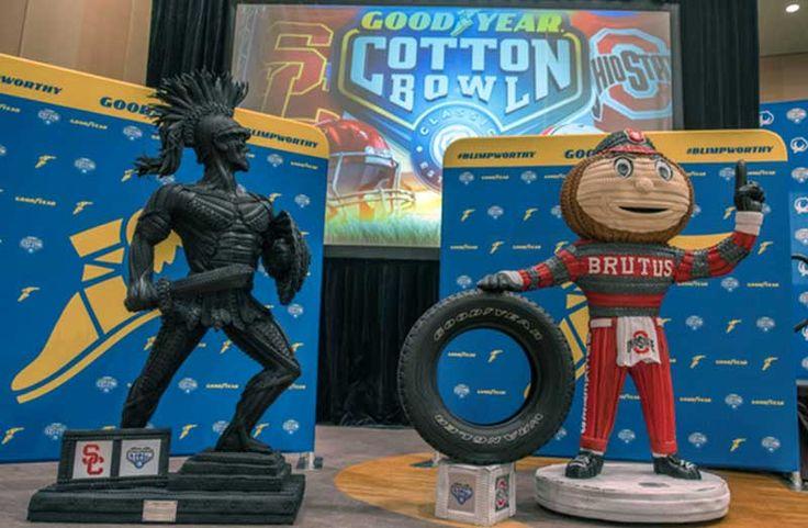 Goodyear crea esculturas gigantes con neumáticos