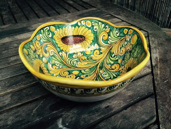 Pottery bowl  pasta bowl  soup bowl  Fluted by ItalianBespokeArt