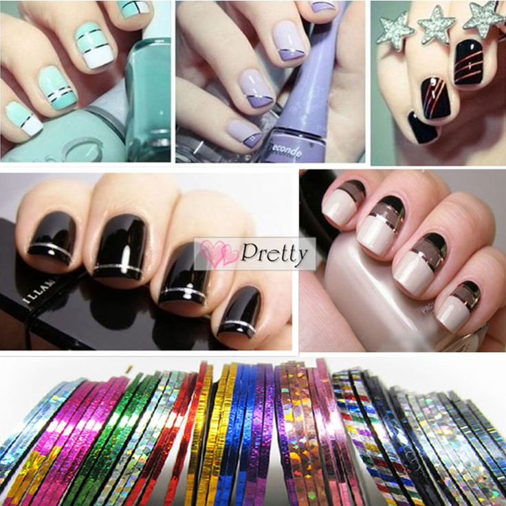 7 best nails temporary tattoos watermark images on pinterest 30pcs mixed colors rolls striping tape line nail art tips decoration sticker ed unbranded prinsesfo Choice Image