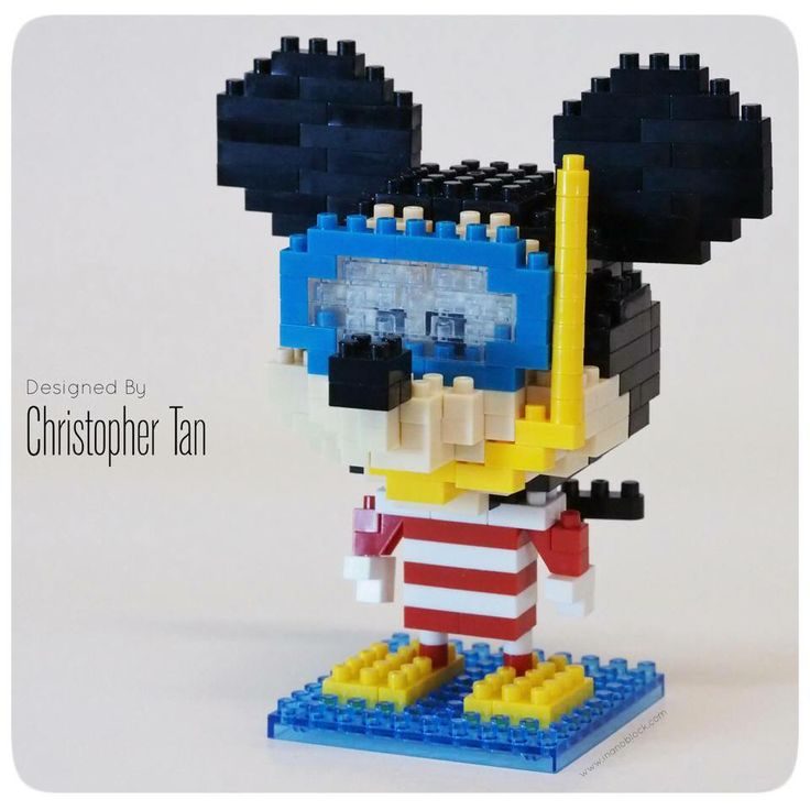 nanoblock Mickey Mouse goes snorkelling =)