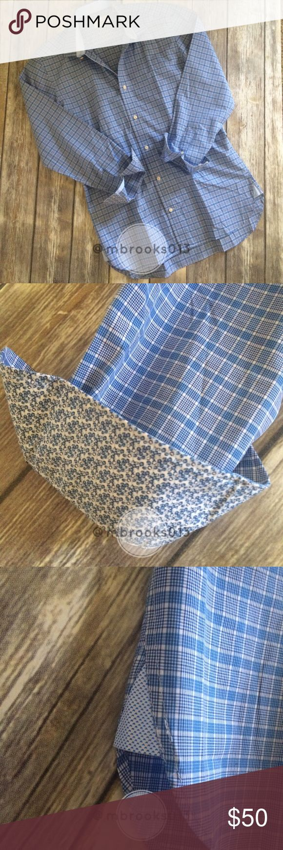 Men's Ted Baker Classic fit, Endurance Collection Men's Ted Baker Classic fit button up dress shirt, Endurance Collection. Size 15. Super fun details and in like new condition! Ted Baker Shirts Dress Shirts