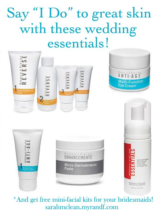 skincare wedding bridal party bridesmaid gifts spa facials mini facials - pre-wedding day activities  Message me about getting great skin for your big day! http://alf.myrandf.com