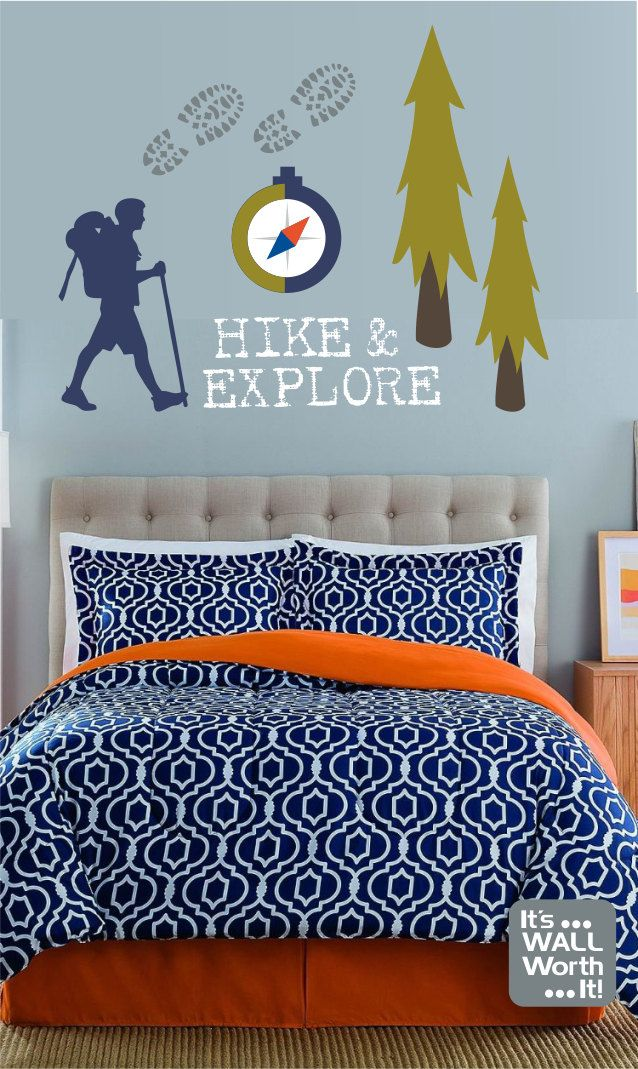 Hike U0026 Explore Camping Vinyl Wall Decal   Childrenu0027s Room Or Playroom Wall  Sticker By ItsWallWorthIt Part 84