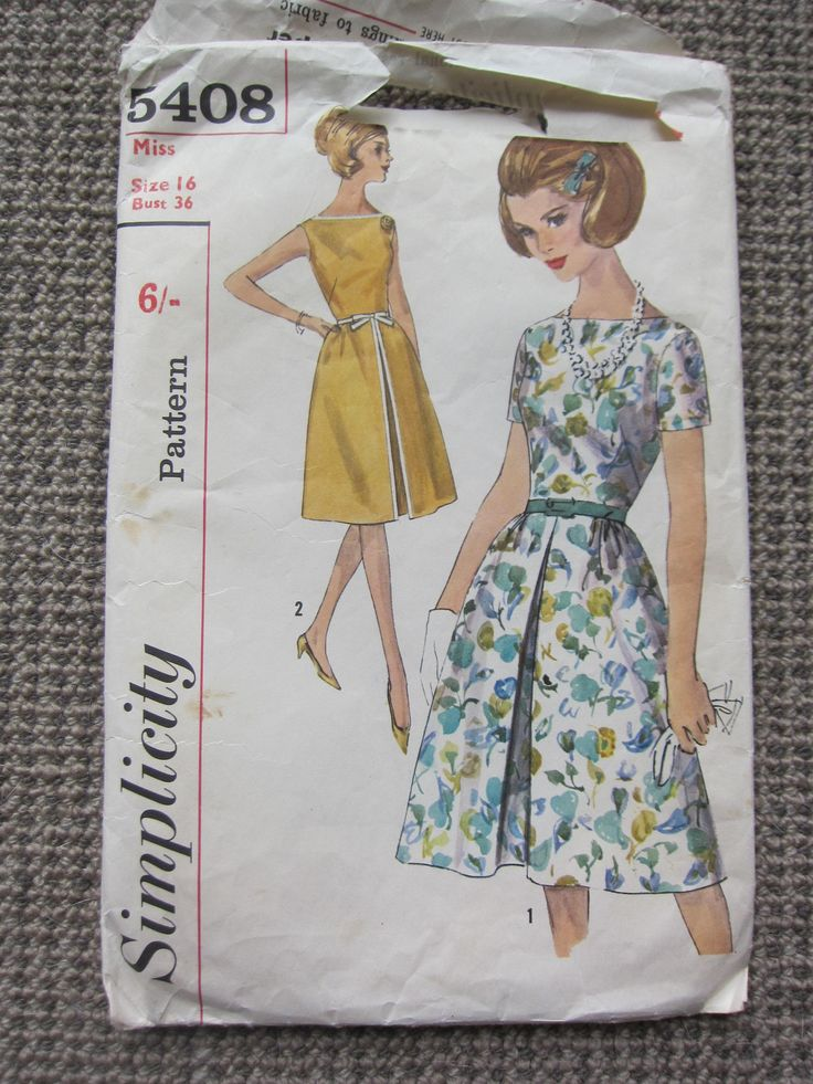 Features a bateau neckline. The bodice is dart fitted.  Back zipper closing.  A flared skirt joins the bodice at waistline with front gathers and back darts.  Skirt is styled with an inverted pleat in front.  View 1 has short, set-in sleeves.  A self fabric or purchased belt may be worn.  View 2 is sleeveless. Flat woven braid trims dress with a braid tie belt.